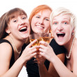 Stock Photo: Happy hen-party