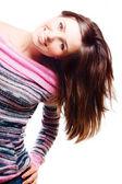 Glada skönhet ung kvinna — Stock fotografie