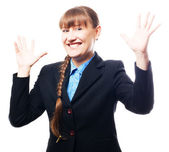 Happy success business woman — Stock Photo