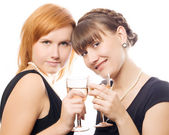Happy women on the party — Stock Photo