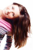 Happy beauty young woman — Stock Photo