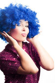 Portrait of a young woman clown — Stock Photo