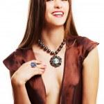 Portrait of beauty young luxury woman — Stock Photo