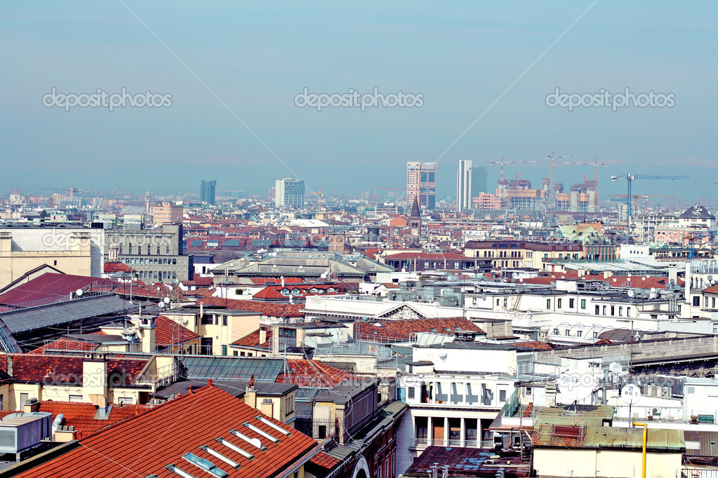 Sky from duomo milano, italy  Stock Photo #2482948