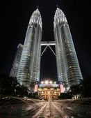 Petronas twin towers — Stockfoto