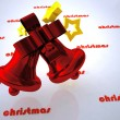 Christmas design of bell — Stock Photo