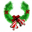 Christmas wreath on a white background — Stock Photo