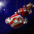 Stock Photo: Christmas art design - planets