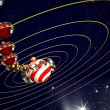 Christmas art design - planets — Stock Photo