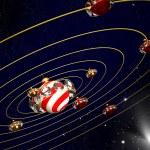 Christmas art design - planets — Stock Photo
