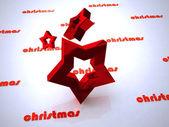 Christmas design of star — Stock Photo