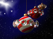 Natale arte design - pianeti — Foto Stock