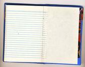 Girare di un notebook con la tirata fuori s — Foto Stock