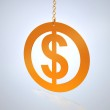 Dollar sign on a chain — Stock Photo #1122110