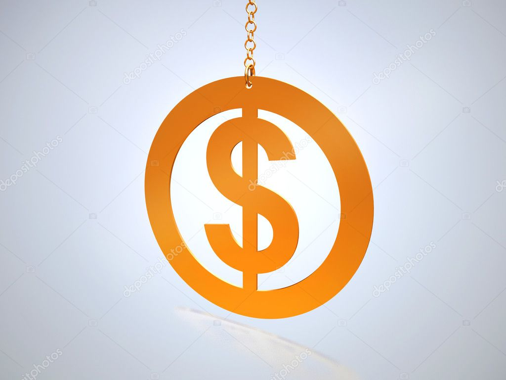 Dollar sign on a chain  Stock Photo #1122110
