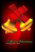 Kerst bells. partij achtergrond. — Stockvector