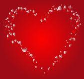 Stylized red heart — 图库矢量图片