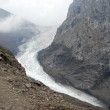 Glacier between mountains — Stockfoto