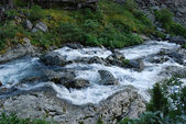 High-mountain river — Stock Photo