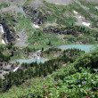 Alpine lakes - Stock Photo