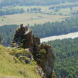 Rock Thunderstone , Gorny Altai, Russia — Stock Photo