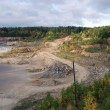 Drowned talc quarry - Stock Photo