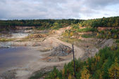 Drowned talc quarry — Stockfoto