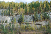Neglected talc quarry — Stockfoto