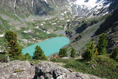 Lago alpino — Foto Stock
