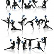 Royalty-Free Stock Vectorafbeeldingen: Gymnastic girl collection