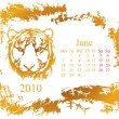 June month — Vector de stock #1082528