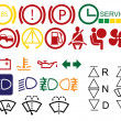 Royalty-Free Stock Vector Image: Car dashboard signs