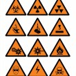 Hazard  and safety signs — Vetor de Stock  #1083254