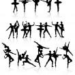 Ballet dancers — Stock Vector #1087206
