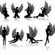 Royalty-Free Stock Vector Image: Fallen angel