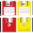Royalty-Free Stock Immagine Vettoriale: Colorful floppy disk