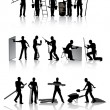 Workers with tools - Stock Vector