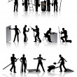 Workers with tools — Imagen vectorial