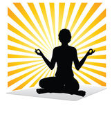 Woman yoga practice — Stock Vector