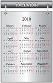 Kalender 2010 — Stockvector