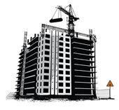 Construction work site — Stock Vector