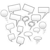 Speech bubbles — Vector de stock