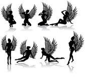 Fallen angel — Stock Vector