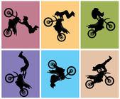 Motocross rider — Stock Vector
