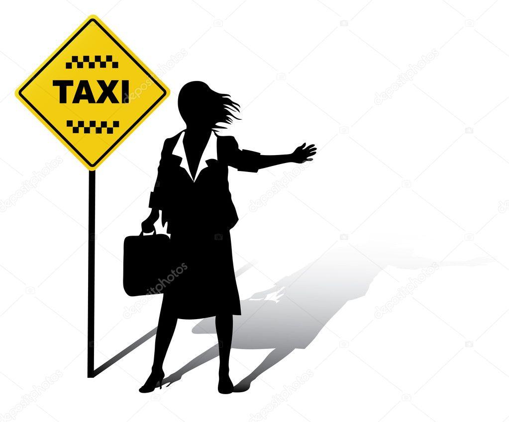 человек ловящий такси