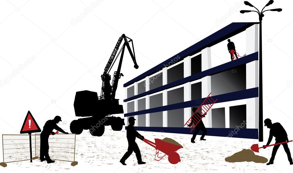 Construction objects vector illustration  Stock Vector #1089938