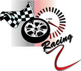 Racing illustration — Stock Vector