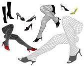 Woman's legs — Stock Vector