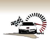 Winner sport car — Stock Vector