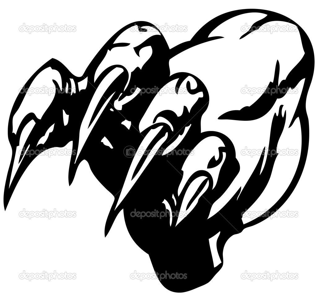 Monster claw vector illustration — Stock Vector #1090568